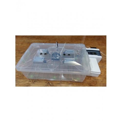 Инкубатор для яиц Курочка Ряба 56, в пластиковом корпусе, вентилятор, 4 лампы, с регулятором влажности
